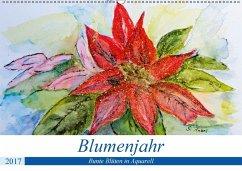 9783665564193 - Rebel, Gudrun: Blumenjahr - Bunte Blüten in Aquarell (Wandkalender 2017 DIN A2 quer) - کتاب