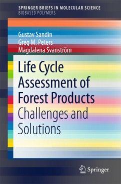 Life Cycle Assessment of Forest Products (eBook, PDF) - Sandin, Gustav; M. Peters, Greg; Svanström, Magdalena