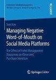 Managing Negative Word-of-Mouth on Social Media Platforms (eBook, PDF)