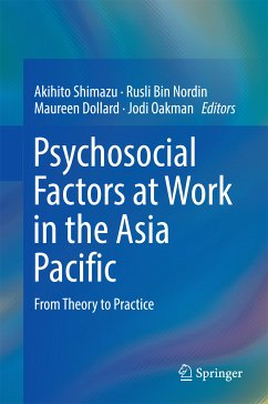 Psychosocial Factors at Work in the Asia Pacific (eBook, PDF)