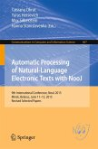 Automatic Processing of Natural-Language Electronic Texts with NooJ (eBook, PDF)