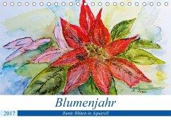 9783665564209 - Rebel, Gudrun: Blumenjahr - Bunte Blüten in Aquarell (Tischkalender 2017 DIN A5 quer) - کتاب