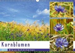 9783665564919 - Löwer, Sabine: Kornblumen - Blaue Schönheiten (Wandkalender 2017 DIN A3 quer) - Buch