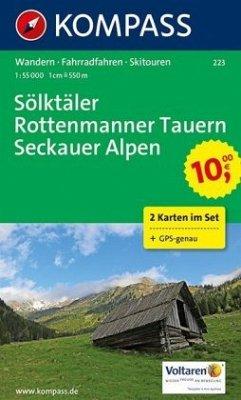KOMPASS Wanderkarte Sölktäler - Rottenmanner Tauern - Seckauer Alpen