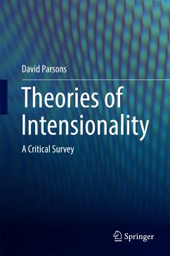 Theories of Intensionality (eBook, PDF) - Parsons, David