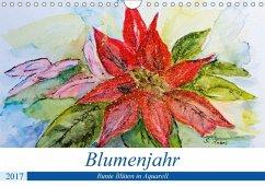9783665564179 - Rebel, Gudrun: Blumenjahr - Bunte Blüten in Aquarell (Wandkalender 2017 DIN A4 quer) - Buch