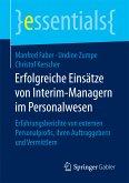 Erfolgreiche Einsätze von Interim-Managern im Personalwesen (eBook, PDF)