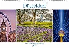 9783665565824 - Hackstein, Bettina: Düsseldorf - Düsseldorfer Rheinspaziergang (Wandkalender 2017 DIN A2 quer) - Buch