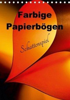9783665567224 - Schwarze, Nina: Farbige Papierbögen Schattenspiel (Tischkalender 2017 DIN A5 hoch) - کتاب