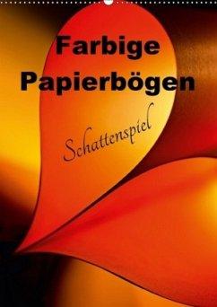 9783665567217 - Schwarze, Nina: Farbige Papierbögen Schattenspiel (Wandkalender 2017 DIN A2 hoch) - Buch