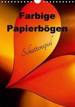 9783665567194 - Schwarze, Nina: Farbige Papierbögen Schattenspiel (Wandkalender 2017 DIN A4 hoch) - کتاب