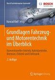 Grundlagen Fahrzeug- und Motorentechnik im Überblick (eBook, PDF)