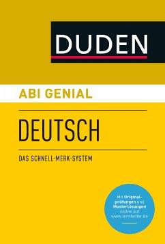 Abi genial Deutsch (eBook, PDF) - Bornemann, Michael; Bornemann, Monika; Schlitt, Christine