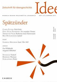 Zeitschrift für Ideengeschichte Heft XI/2 Sommer 2017