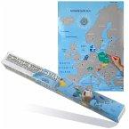 Europa-Landkarte zum Freirubbeln Format 86 x 63 cm
