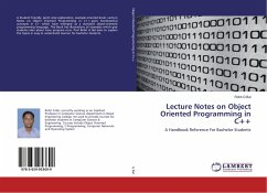 Lecture Notes on Object Oriented Programming in C++