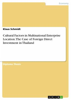 Cultural Factors in Multinational Enterprise Location. The Case of Foreign Direct Investment in Thailand (eBook, PDF)