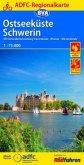 ADFC-Regionalkarte Schwerin Ostseeküste, 1:75.000, reiß- und wetterfest, GPS-Tracks Download