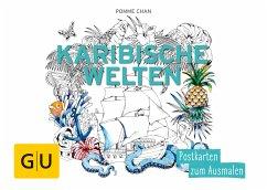 Karibische Welten: Postkarten zum Ausmalen