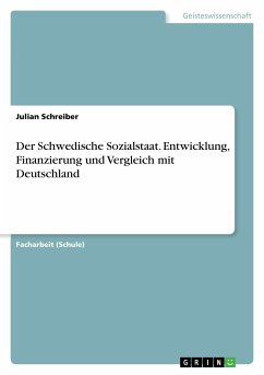 Der Schwedische Sozialstaat. Entwicklung, Finanzierung und Vergleich mit Deutschland