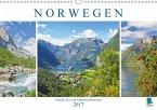 Norwegen: Fjorde, Wald und Mitternachtssonne (Wandkalender 2017 DIN A3 quer)