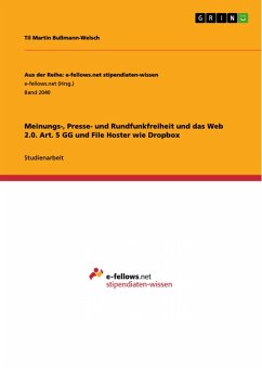 Meinungs-, Presse- und Rundfunkfreiheit und das Web 2.0. Art. 5 GG und File Hoster wie Dropbox (eBook, PDF)