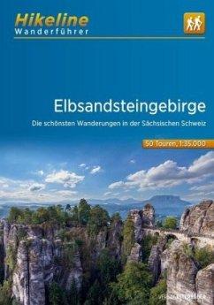Hikeline Wanderführer Elbsandsteingebirge 1 : 35 000