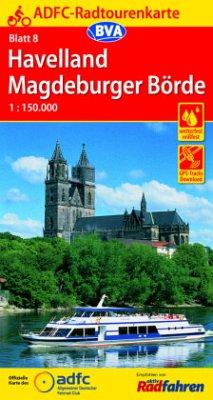 ADFC-Radtourenkarte Havelland Magdeburger Börde 1:150.000