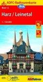 ADFC-Radtourenkarte Harz /Leinetal 1:150.000, reiß- und wetterfest, GPS-Tracks Download