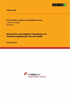 Reichweite und mögliche Umgehung von Vinkulierungsklauseln bei der GmbH (eBook, PDF)