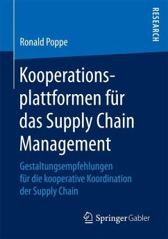 Kooperationsplattformen für das Supply Chain Management - Poppe, Ronald