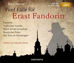 Fünf Fälle für Erast Fandorin, 5 MP3-CD - Akunin, Boris