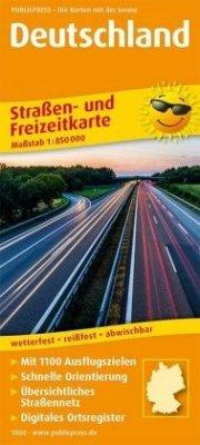 PublicPress Straßen- und Freizeitkarte Deutschland