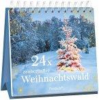 24 x zauberhafter Weihnachtswald. Adventskalender