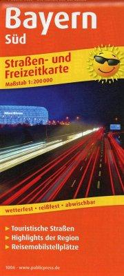 PublicPress Straßen- und Freizeitkarte Bayern-Süd