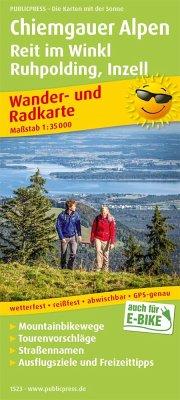 PublicPress Wander- und Radkarte Chiemgauer Alpen, Reit im Winkl, Ruhpolding, Inzell