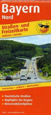 PublicPress Straßen- und Freizeitkarte Bayern-Nord