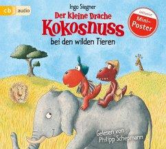 Der kleine Drache Kokosnuss bei den wilden Tieren / Die Abenteuer des kleinen Drachen Kokosnuss Bd.25 (1 Audio-CD) - Siegner, Ingo