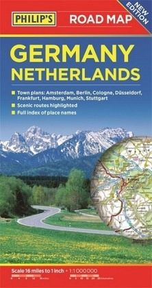 Philip\'s Germany and Netherlands Road Map - englisches Buch - bücher.de