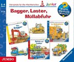Bagger, Laster, Müllabfuhr, 3 Audio-CDs