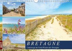 9783665580322 - Heuvers, Elly: Bretagne - Unterwegs im Nord-Westen (Wandkalender 2017 DIN A4 quer) - Buch