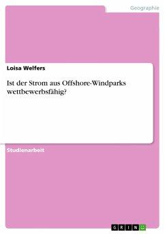 9783668311022 - Welfers, Loisa: Ist der Strom aus Offshore-Windparks wettbewerbsfähig? - Buch
