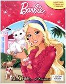 Barbie, 1 Buch + 12 Figuren + 1 Spielmatte