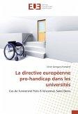La directive européenne pro-handicap dans les universités