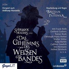 Sherlock Holmes und das Geheimnis des weißen Bandes, 3 Audio-CDs - Horowitz, Anthony