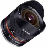 Samyang F 2,8/8 Fish-Eye II schwarz Objektiv für Fujifilm X (APS-C Sensor)