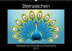 9783665582982 - laleike, asray: Sternzeichen - Tierkreiszeichen für Kinder und Erwachsene (Wandkalender 2017 DIN A2 quer) - Kniha