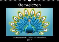 9783665582975 - laleike, asray: Sternzeichen - Tierkreiszeichen für Kinder und Erwachsene (Wandkalender 2017 DIN A3 quer) - Kniha