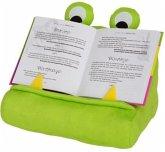 Bookmonster Grün - Lesekissen für Bücher und Tablets