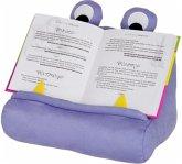 Bookmonster Violett - Lesekissen für Bücher und Tablets